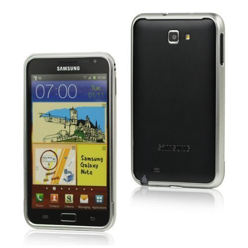 Alu Bumper Hopea Samsung Galaxy Note Alumiininen Suojakehys