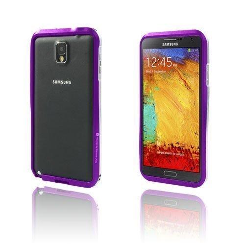 Alu Bumper Violetti Samsung Galaxy Note 3 Alumiininen Bumper Suojakehys