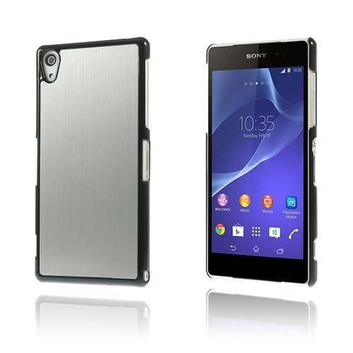 Alu Plate Hopea Sony Xperia Z2 Suojakuori