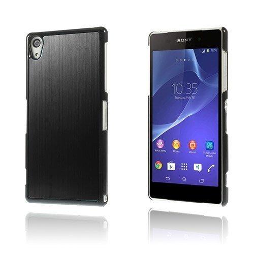 Alu Plate Musta Sony Xperia Z2 Suojakuori