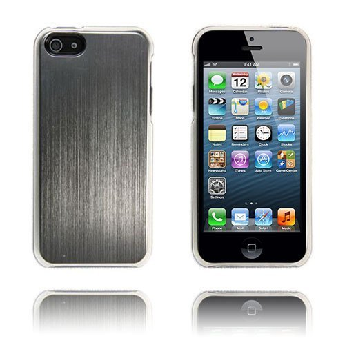 Alu Shield Hopeinen Iphone 5 Suojakuori