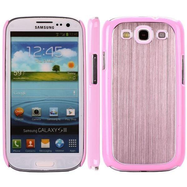 Alu Shield Pinkki Samsung Galaxy S3 Suojakuori