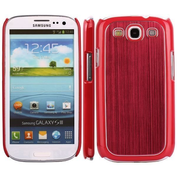 Alu Shield Punainen Samsung Galaxy S3 Suojakuori