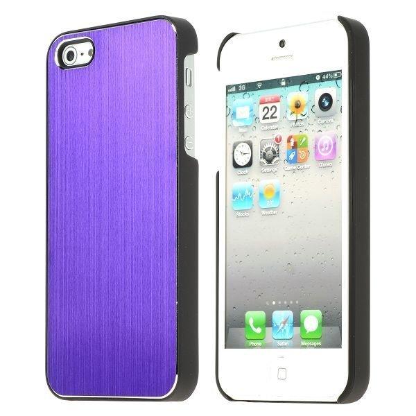 Alu Shield Violetti Iphone 5 Suojakuori