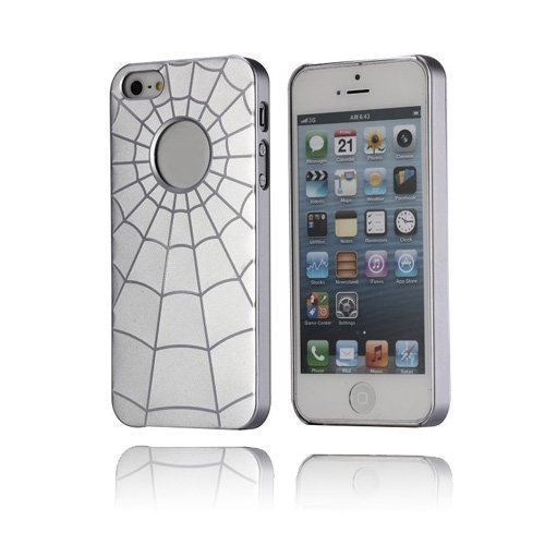Alu Spider Hopeinen Iphone 5 Suojakuori