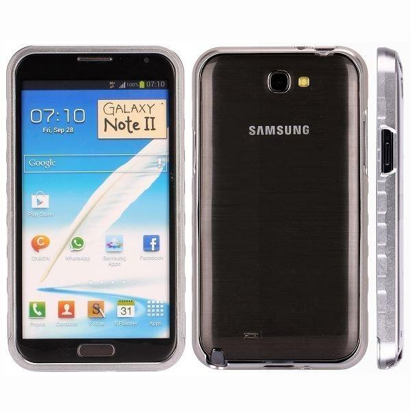 Alulite Hopea Samsung Galaxy Note 2 Alumiininen Suojakehys