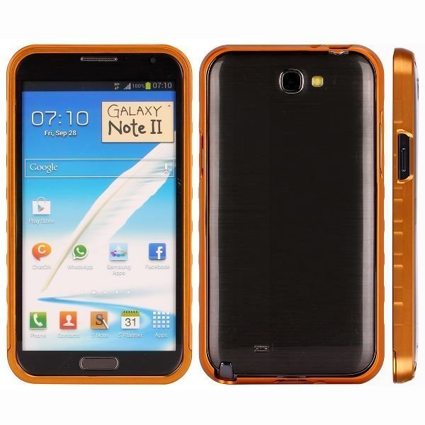 Alulite Oranssi Samsung Galaxy Note 2 Alumiininen Suojakehys