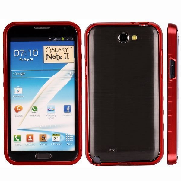 Alulite Punainen Samsung Galaxy Note 2 Alumiininen Suojakehys