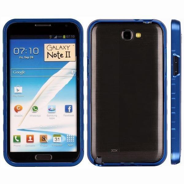 Alulite Sininen Samsung Galaxy Note 2 Alumiininen Suojakehys