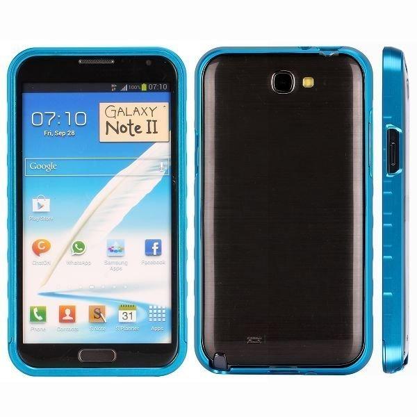 Alulite Vaaleansininen Samsung Galaxy Note 2 Alumiininen Suojakehys