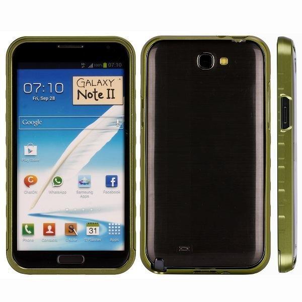 Alulite Vihreä Samsung Galaxy Note 2 Alumiininen Suojakehys