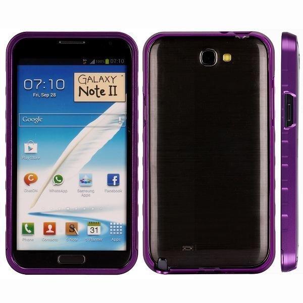 Alulite Violetti Samsung Galaxy Note 2 Alumiininen Suojakehys