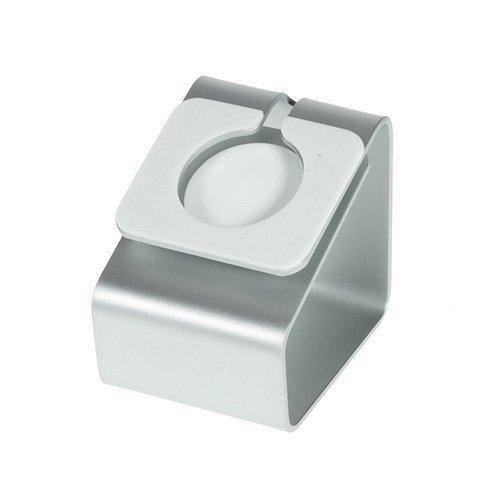 Alumiini Standin Lataus Näyttö Apple Kellolle 38 / 42mm Hopea