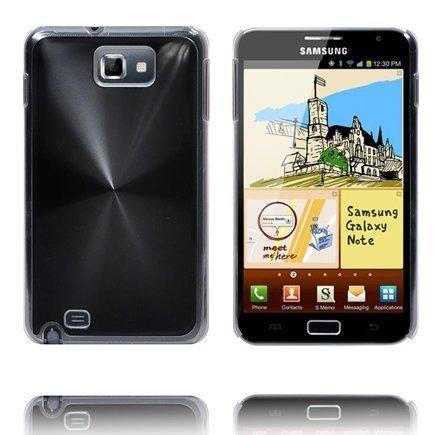 Alumiini Suojus Musta Samsung Galaxy Note Suojakuori