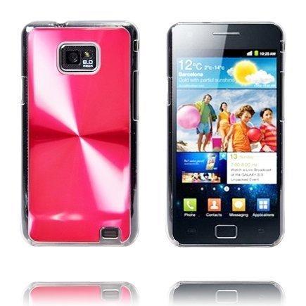 Alumiini Suojus Punainen Samsung Galaxy S2 Suojakuori