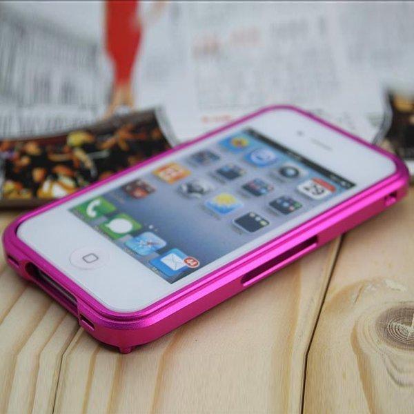 Alumiininen Iphone 4 Bumper Suojakehys Pinkki