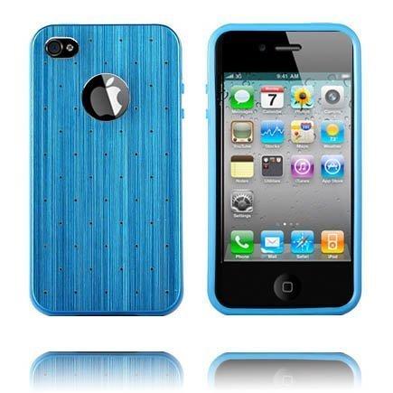 Alumiininen Tausta Soft Edge Sininen Iphone 4 / 4s Silikonikuori