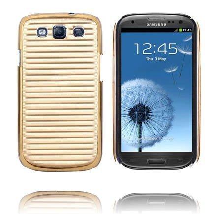 Alumiininen Tausta Ver. Ii Kulta Samsung Galaxy S3 Suojakuori