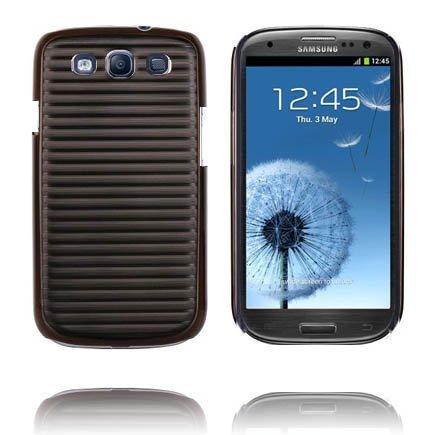 Alumiininen Tausta Ver. Ii Musta Samsung Galaxy S3 Suojakuori