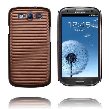 Alumiininen Tausta Ver. Ii Ruskea Samsung Galaxy S3 Suojakuori