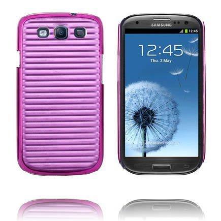 Alumiininen Tausta Ver. Ii Violetti Samsung Galaxy S3 Suojakuori