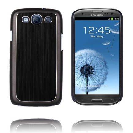 Alumiininen Tausta Ver. Iii Musta Samsung Galaxy S3 Suojakuori