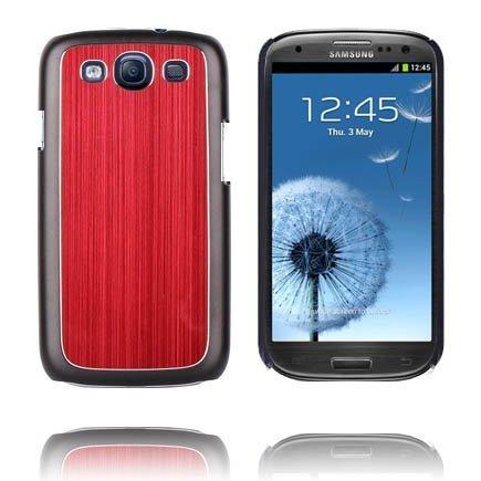 Alumiininen Tausta Ver. Iii Punainen Samsung Galaxy S3 Suojakuori