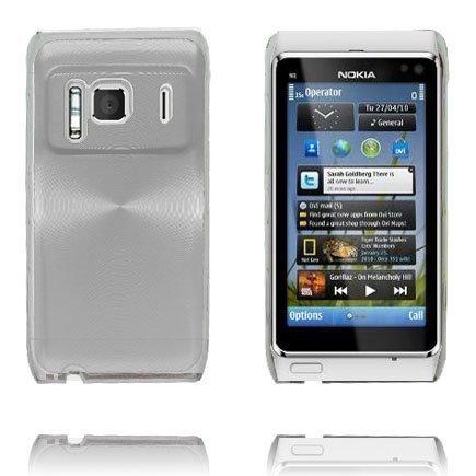 Aluminium Shield Läpikuultava Reunus Hopea Nokia N8 Suojakuori