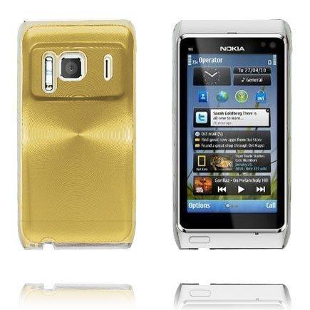 Aluminium Shield Läpikuultava Reunus Kulta Nokia N8 Suojakuori