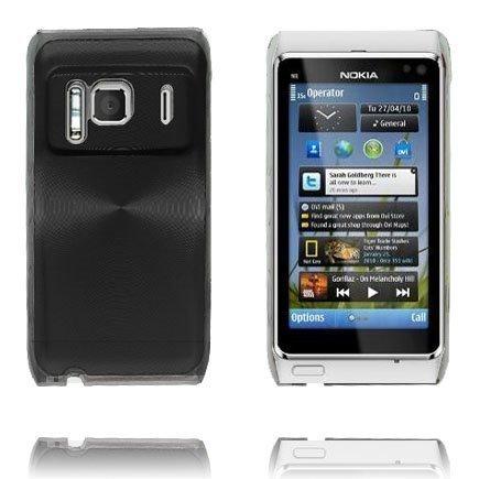 Aluminium Shield Läpikuultava Reunus Musta Nokia N8 Suojakuori