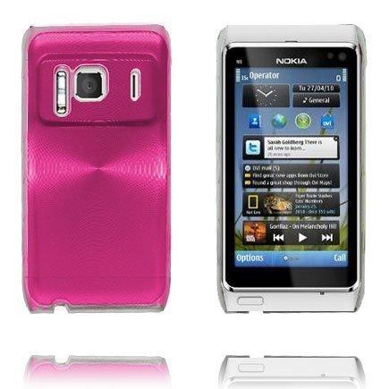 Aluminium Shield Läpikuultava Reunus Pinkki Nokia N8 Suojakuori
