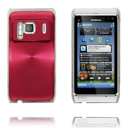 Aluminium Shield Läpikuultava Reunus Punainen Nokia N8 Suojakuori