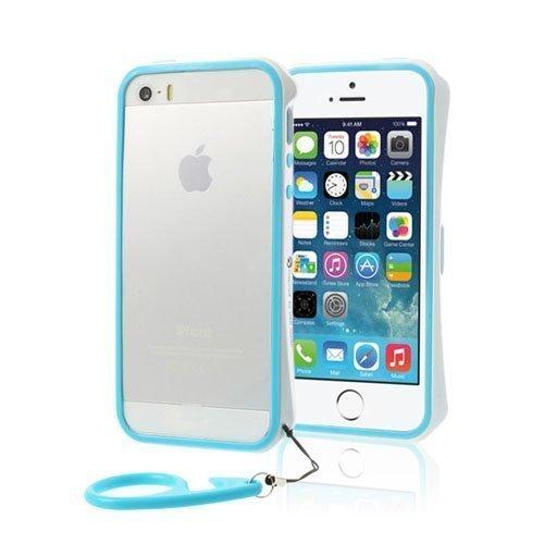 Alupro Sininen / Valkoinen Iphone 5 / 5s Alumiininen Suojakehys