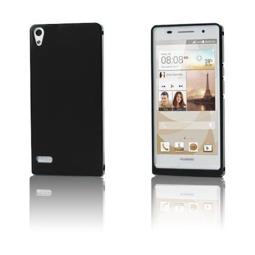 Alux Musta Huawei Ascend P6 Alumiininen Suojakuori