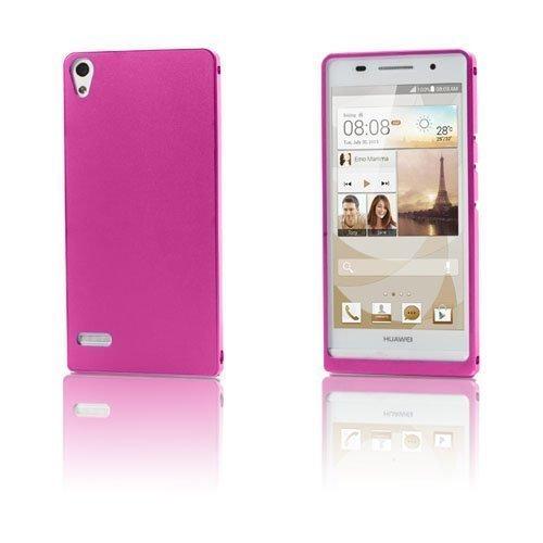 Alux Pinkki Huawei Ascend P6 Alumiininen Suojakuori