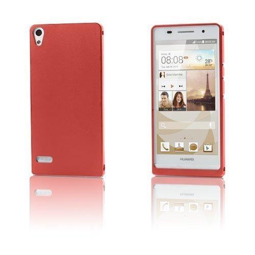 Alux Punainen Huawei Ascend P6 Alumiininen Suojakuori