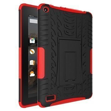 Amazon Fire 7 Anti-Slip Hybrid Case Black / Red
