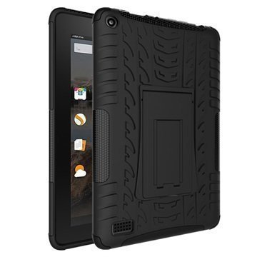 Amazon Fire 7 Anti-Slip Hybrid Case Black