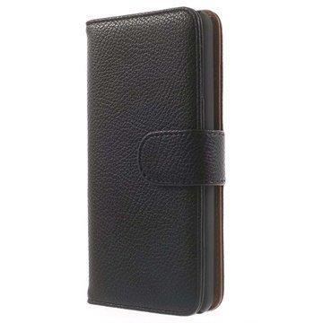 Amazon Fire Phone Wallet Nahkakotelo Musta