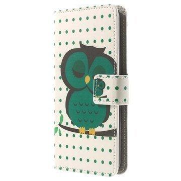 Amazon Fire Phone Wallet Nahkakotelo Pöllö
