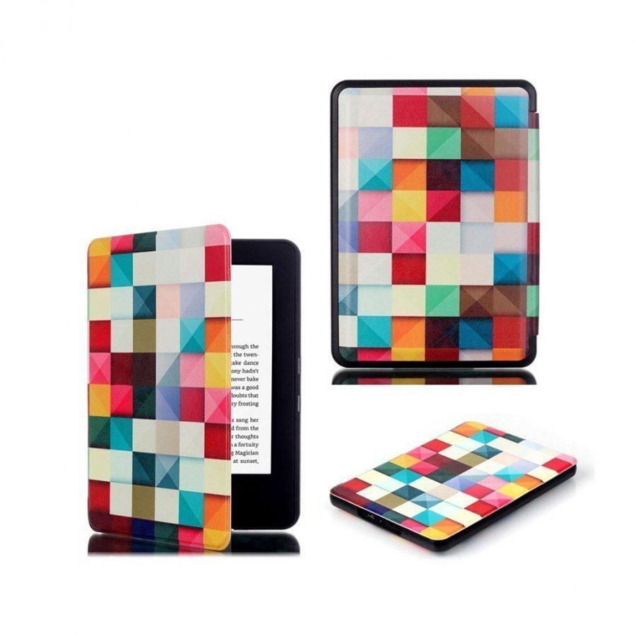 Amazon Kindle 2016 Kuvioitu Nahkakotelo Läpällä 3d Ruutu Efekti