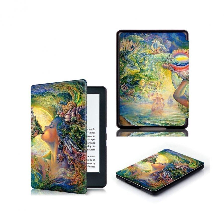 Amazon Kindle 2016 Kuvioitu Nahkakotelo Läpällä Meren Tytär