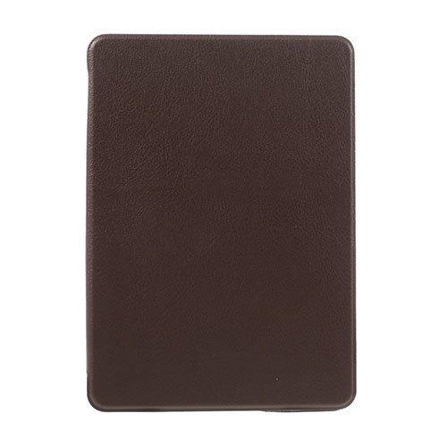Amazon Kindle Paperwhite 3 / 2 / 1 Litsi Pintainen Nahkakotelo Läpällä Kahvi