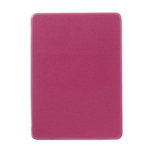 Amazon Kindle Paperwhite 3 / 2 / 1 Litsi Pintainen Nahkakotelo Läpällä Kuuma Pinkki