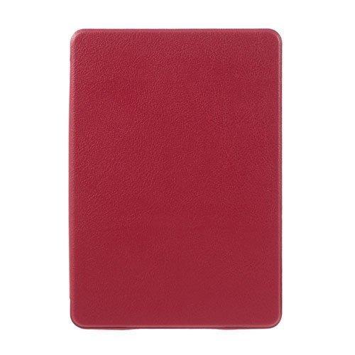 Amazon Kindle Paperwhite 3 / 2 / 1 Litsi Pintainen Nahkakotelo Läpällä Punainen