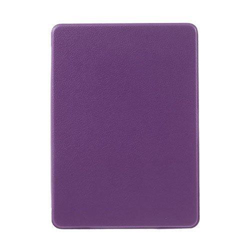 Amazon Kindle Paperwhite 3 / 2 / 1 Litsi Pintainen Nahkakotelo Läpällä Violetti