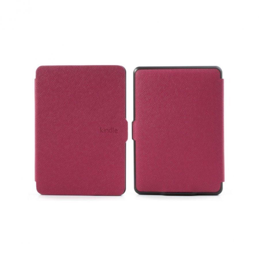 Amazon Kindle Paperwhite Poikittaiskuvioinen Folio Nahkakotelo Kuuma Pinkki