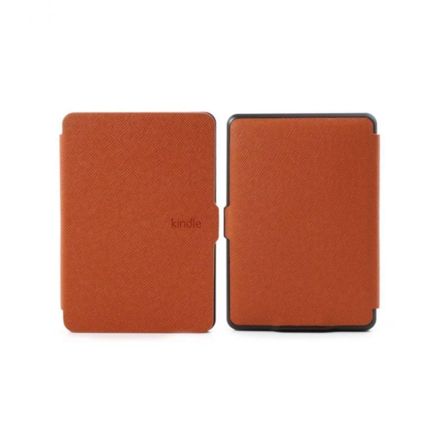 Amazon Kindle Paperwhite Poikittaiskuvioinen Folio Nahkakotelo Oranssi
