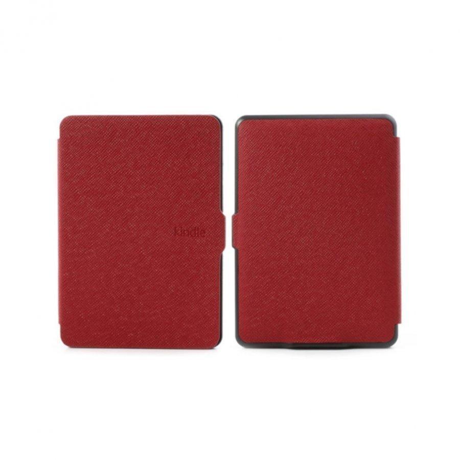 Amazon Kindle Paperwhite Poikittaiskuvioinen Folio Nahkakotelo Punainen