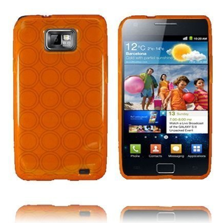 Amazona Oranssi Samsung Galaxy S2 Silikonikuori